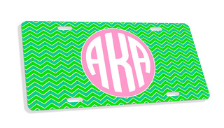 Alpha Kappa Alpha Monogram License Plate