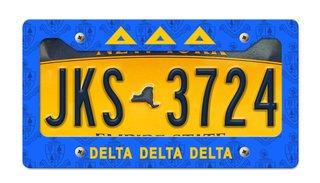 Delta Delta Delta New License Plate Frame