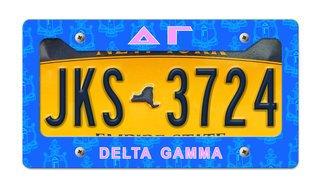 Delta Gamma New License Plate Frame