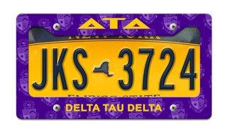 Delta Tau Delta License Plate Frame