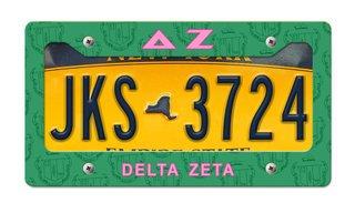 Delta Zeta New License Plate Frame