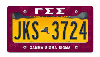 Gamma Sigma Sigma New License Plate Frame