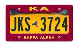 Kappa Alpha License Plate Frame