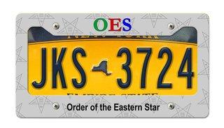Order Of Eastern Star New License Plate Frame