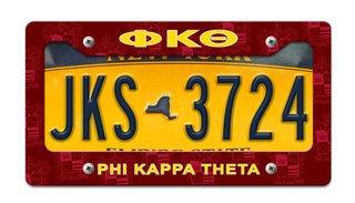 Phi Kappa Theta License Plate Frame