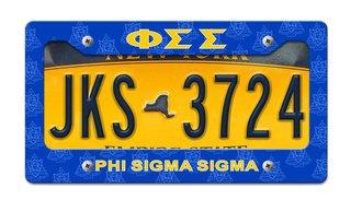 Phi Sigma Sigma License Plate Frame