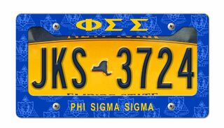 Phi Sigma Sigma New License Plate Frame
