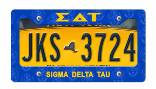 Sigma Delta Tau New License Plate Frame