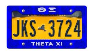 Theta Xi License Plate Frame