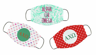 Alpha Chi Omega Face Mask Trio Set