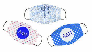 Alpha Delta Pi Face Mask Trio Set