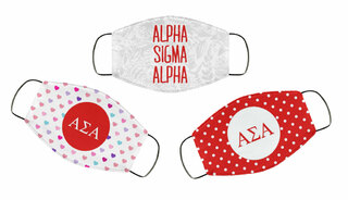 Alpha Sigma Alpha Face Mask Trio Set