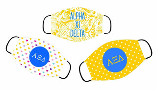 Alpha Xi Delta Face Mask Trio Set