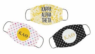 Kappa Alpha Theta Face Mask Trio Set