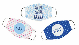 Kappa Kappa Gamma Face Mask Trio Set