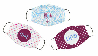 Pi Beta Phi Face Mask Trio Set
