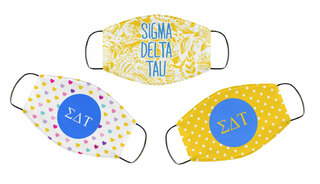 Sigma Delta Tau Face Mask Trio Set