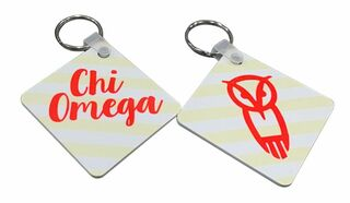 CHI OMEGA STRIPED OWL KEYCHAIN - BIG SALE