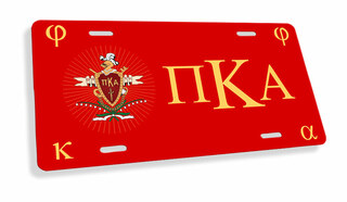 Pi Kappa Alpha Flag License Cover