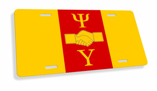 Psi Upsilon Flag License Cover