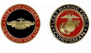 Fleet Marine Corpsman Challenge Coin