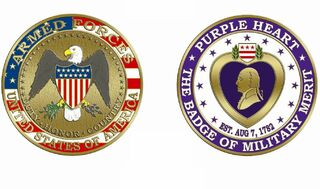 Purple Heart Challenge Coin