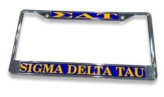 Sigma Delta Tau Chrome License Plate Frames
