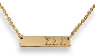 Sigma Sigma Sigma Cross Bar Necklace