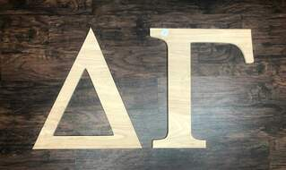 Super Savings - Delta Gamma Wooden Letters - WOOD - HUGE