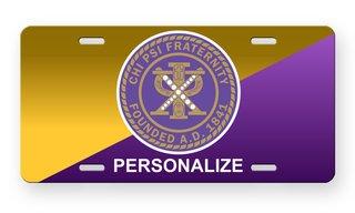 Chi Psi Logo License Cover