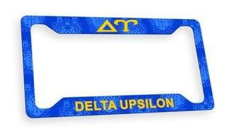 Delta Upsilon Custom License Plate Frame
