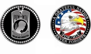POW*MIA Challenge Coin
