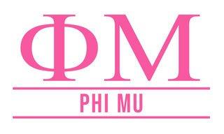 Phi Mu Custom Sticker - Personalized
