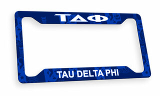 Tau Delta Phi Custom License Plate Frame