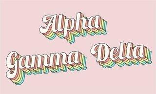 Alpha Gamma Delta Sorority Retro Flag