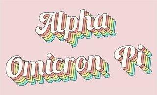 Alpha Omicron Pi Sorority Retro Flag
