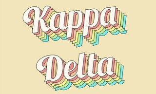 Kappa Delta Sorority Retro Flag