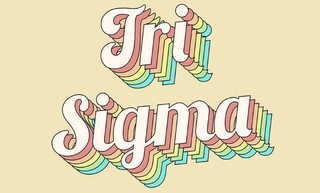Sigma Sigma Sigma Sorority Retro Flag