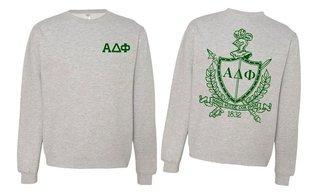 Alpha Delta Phi World Famous Crest - Shield Printed Crewneck Sweatshirt- $25!