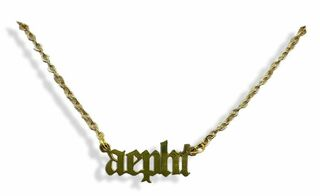 Alpha Epsilon Phi Old English Necklaces