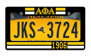 Alpha Phi Alpha Year License Plate Frame
