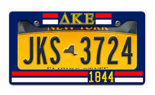 Delta Kappa Epsilon Year License Plate Frame
