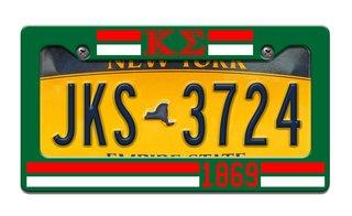 Kappa Sigma Year License Plate Frame