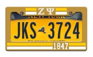 Zeta Psi Year License Plate Frame