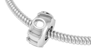 Alpha Omicron Pi Silver Bead Necklace