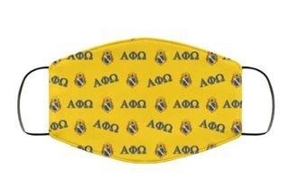 Alpha Phi Omega Letter & Crest Face Masks