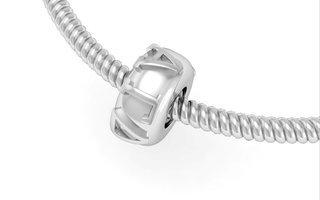 Alpha Gamma Delta Silver Bead Necklace