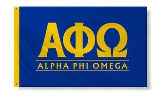 Alpha Phi Omega Custom Line Flag
