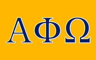 Alpha Phi Omega Flag Decal Sticker