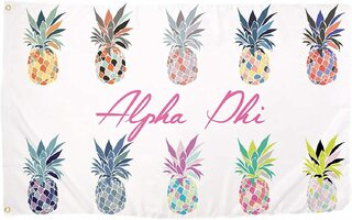 Alpha Phi Pineapple Flag